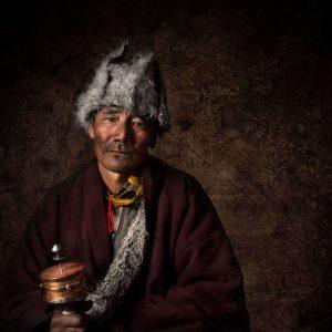 Portrait Photograph of local in Ladakh India taken by Ignacio Palacios